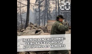 Incendies en Californie: Le bilan s'alourdit à 631 disparus et 66 morts