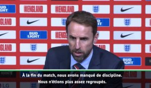 "Angleterre - Southgate : ""Si on joue comme ça dimanche, on va perdre"""