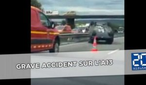Grave accident sur l'A13