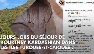 PHOTO. Kourtney Kardashian prend la pose en bikini sous l'objectif de son fils