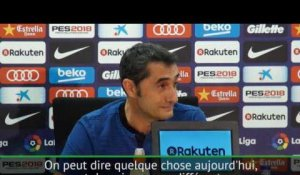 Catalogne - Valverde se concentre ''sur le football''