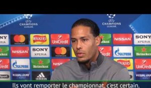 "Quarts - Van Dijk : ""Liverpool connait les faiblesses de Manchester City"""