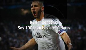 8es - Benzema, Ses 100 matches en 10 dates