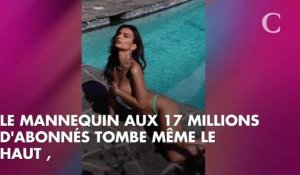 PHOTOS. Emily Ratajkowski pose topless pour sa collection de maillots de bain