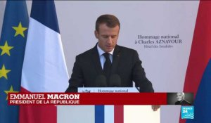 REPLAY - Emmanuel Macron rend hommage à Charles Aznavour