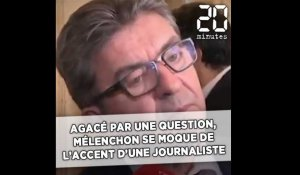 Agacé par une question, Jean-Luc Mélenchon imite l'accent d'une journaliste
