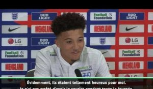 "Angleterre - Sancho : ""J'ai immédiatement appelé mes parents"""