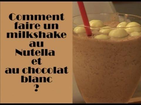 Comment Faire Un Milkshake Au Nutella Et Au Chocolat Blanc Sur