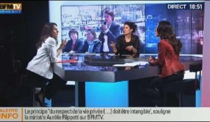 BFM Politique: L'interview d'Aurélie Filippetti par Anna Cabana du Point - 12/01 3/6