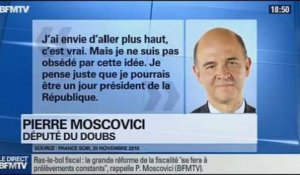 BFM Politique: L'interview de Pierre Moscovici par Anna Cabana du Point  08/12 3/6