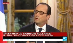Interview de François Hollande : le chef de l'État s'exprime sur France 24 - RFI - TV5 Monde