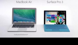 Surface Pro 3 : publicité comparative face au MacBook Air