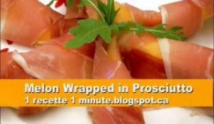 Melon Wrapped in Prosciutto