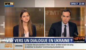 Le Soir BFM: Violences à Kiev, l'UE menace de sanctionner l'Ukraine -19/02 4/6
