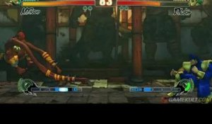 Street Fighter IV - Dhalsim se brûle contre le Bison