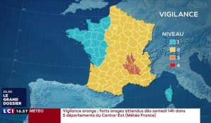 Orages : cinq départements en vigilance orange