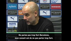 "Man City - ""Ne parlez pas trop fort"" lance Guardiola au FC Barcelone"