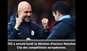Ldc - Le TAS blanchit Manchester City