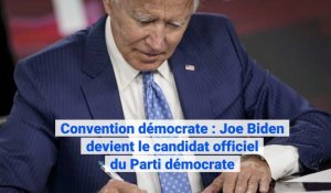 USA: Joe Biden officiellement investi par le Parti démocrate