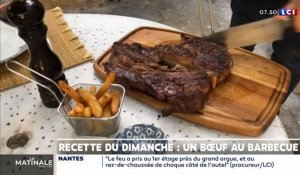 Un bœuf au barbecue