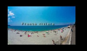 360 degrees seaview on French Riviera beach, Nice 2017 - Samsung Gear - Maxppp