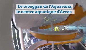 La descente du toboggan de l'Aquarena à Arras en version GoPro