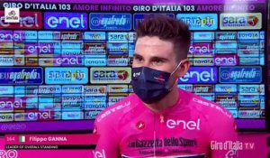 "Tour d'Italie 2020 - Filippo Ganna : ""Life in Maglia Rosa is very nice"""
