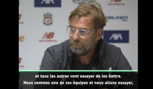 "Liverpool - Klopp: ""Manchester City est le grand favori"""