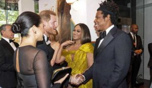 PHOTOS. Meghan Markle et le prince Harry chics pour leur premi...