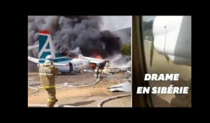 En Russie, ce passager filme le crash de son avion
