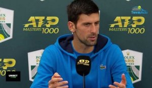 "Rolex Paris Masters 2019 -  Novak Djokovic on Grigor Dimitrov: ""His setback may be his weakness"""