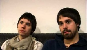 Panic! At the Disco 2008 interview - Ryan Ross and Jon Walker (part 1)