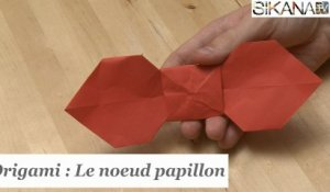 Origami : Comment faire un noeud papillon en papier ? - HD
