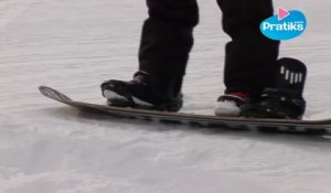 Initiation snowboard: 1ère glisse le one foot