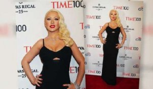 Christina Aguilera Shows Off Slim Figure
