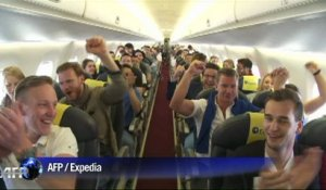 Expedia bat le record du monde du 'speed dating' en altitude. Durée: 01:12