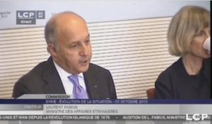 TRAVAUX ASSEMBLEE 14EME LEGISLATURE : Audition de M. Laurent Fabius, ministre des Affaires étrangères
