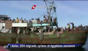 Italie: 254 migrants syriens et égyptiens secourus