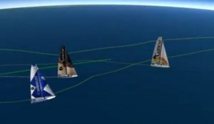 Vendée Globe. Le point en cartographie 3D à 9h