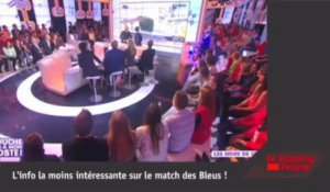 Qualification de l'Equipe de France : Hanouna en blond, De Caunes en anglais, etc !