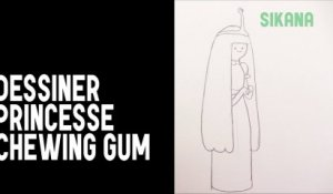 Dessiner Princesse Chewing Gum (Princess Bubblegum) d'Adventure time
