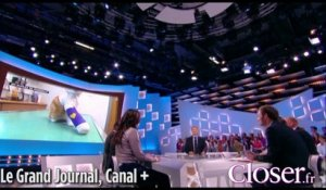 "Oscar, le chat martyrisé, interviewé par Antoine de Caunes dans ""Le grand journal"""