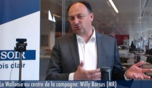 La Wallonie au centre de la campagne :Willy Borsus (MR)