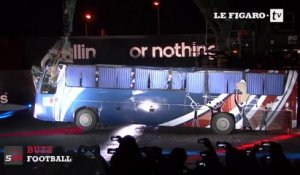 France soccer team old bus destroyed by ADIDAS!
