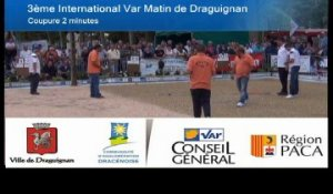Finale de l'International à pétanque de Draguignan - 2014