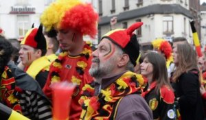 Charleroi. Supporters des Diables Rouges