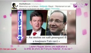 Public Zap : Laurent Ruquier donne une explication à la drôle de photo de François Hollande : In ou out ?