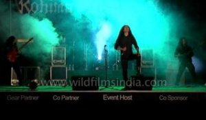 Walo Keppen from Azure delusion's crazy wild performance at Kohima Metal Fest!