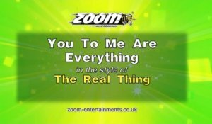 Zoom Karaoke - You To Me Are Everything - The Real Thing