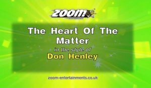 Zoom Karaoke - The Heart Of The Matter - Don Henley